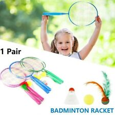 1 Pair of Badminton Rackets +3 Shuttlecocks Home Sports Game for Youth Kids USA