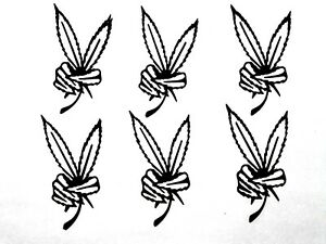 6 MARIJUANA LEAF /LEAVES GIVING THE PIECE SIGN SILHOUETTE DIE CUT/ CUTS, CLIPART