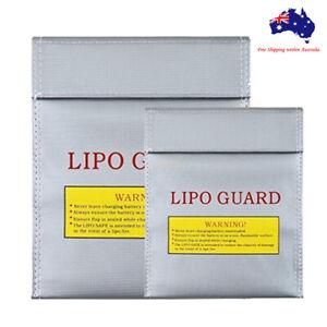 Silver Li-Po Lipo Battery Waterproof Fireproof Safe Guard Bag 18*23cm 23*30cm