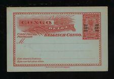 Belgium Congo revalued postal card unused Ms0108