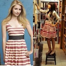 $168 Anthropologie Corey Lynn Calter 6 Caranday Candy Stripe Pleated Flare Dress