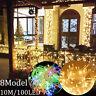 33FT 100LED Christmas Tree Twinkle Fairy String Lights Xmas Decor Lamp Tail Plug