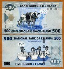 Rwanda, 500 Francs, 2013, P-38, Unc > Schoolchildren, Cows