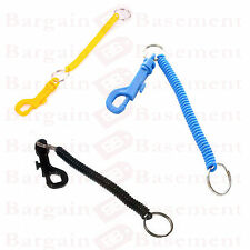 SPIRAL KEY CHAIN Retractable Clip On Ring Stretchy Elastic Coil Spring  Keyring 9b9623bf91e3