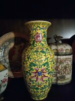 Chinese Porcelain Colorful Hand Painted Vase - Mid Size Fine Art Collection