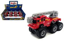 "Maisto Fresh Metal Display Builder Zone Quarry Monsters Fire Truck 8"" 24191F"