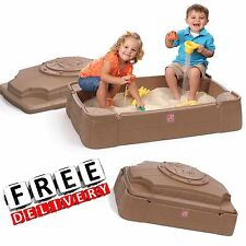 Sandbox With Cover Little Tikes Play Outdoor Sand Fun Kid Baby Toy Backyard New