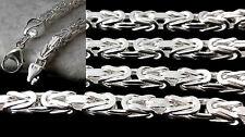 Vierkant Königskette echt Silber 925 Sterlingsilber MASSIV Herren Halskette 66cm