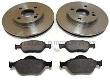 FORD FIESTA MK5 1.6 16V ZETEC-S 99-01 FRONT 2 BRAKE DISCS AND PADS (CHECK SIZE)