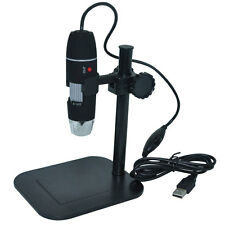 S02 1X-500X 2.0MP USB Digital 8-LED Microscope Endoscope Camera Vidio Stand New