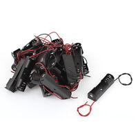20Pcs Dual Wires Spring Clip Black Plastic 1 x 1.5V AA Battery Case Slot Holder