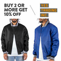 MENS CASUAL VARSITY JACKET BOMBER JACKET HIP PLAIN LETTERMAN JACKET WINDBREAKER