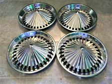 """RARE 1973-75 Plymouth 14"""" Hubcaps For Rat Rod / Kustom Ford, Mercury & Chevy"""