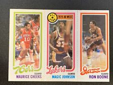 1980-81 Topps #18 MAGIC JOHNSON Rookie RC #178 Maurice Cheeks #237 Ron Boone