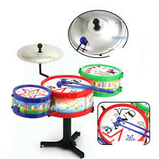 Kids Child Musical Instruments Toy Colorful Plastic Drum Drum Kit Set Gift