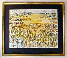 RAOUL DUFY -- A 1940s WATERCOLOR LANDSCAPE PAINTING OF FARMING, PAYSAGE, FRENCH