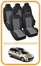 Fundas de los asientos a medida para Peugeot 307 Estate 2001 - 2008 5 Asiento Set completo (P2)