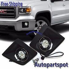 LED Fog Lights Bumper Lamps Set NEW For 14 15 GMC Sierra 1500 FL7087