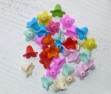 100 bunte Acryl Blütenkelche ca 18 x 18 mm Farbmischung 2, Engel basteln A1109