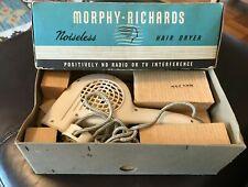 vintage Morphy Richards noiseless hair dryer in original box