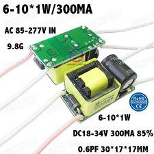 5PCS AC85-277V 10W LED Driver 6-10x1W 290mA DC18-34V Constant Current 6-10PCS 1W