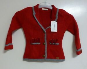 CESAR BLANCO CHAQUETA RED JACKET SIZE 5 YEARS BRAND NEW CR180 EE 08