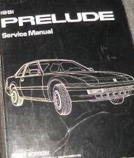1991 HONDA PRELUDE Service Shop Workshop Repair Manual NEW