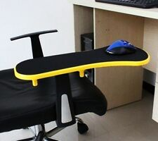 Yellow Home Office Computer Arm Rest  Chair Desk Armrest Mouse Pad Support 450mm