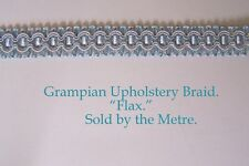 "Light Blue Upholstery Braid ""Grampian Flax"" 18mm (sold by the Metre)"