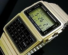 CASIO Vintage Retro Calculator Data Bank Gold DBC611G DBC-611G-1D !