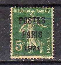 FRANCE Préoblitéré n° 26 neuf sans gomme