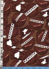 Fabric Benartex CHOCOLATE CREAM FILLED CUPCAKES BTHY