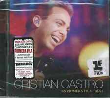 CD/DVD - Cristian Castro NEW Primera Fila Dia 1 ( Sony Music ) FAST SHIPPING !