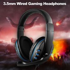 Headphone Wireless Mic Wired Earphone Game Headset Noise Canceling for PC E7R9