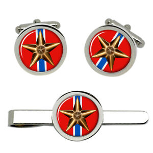 Bronze Star Medal Cufflinks and Tie Clip Set