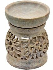 """Artist Haat 4"""" Hand Crafted Stone Aroma Diffuser Oil Burner Décor Gift"""