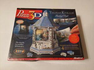 Wrebbit Puzz 3D Thomas Kinkade THE GAZEBO Puzzle Lights Up -- Sealed!