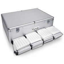 NEW Heavy Duty Aluminium Lockable CD DVD Bluray Storage Case Box 1000 Discs SL