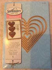Spellbinder Nestabilities Dies CLASSIC HEART 6 Die Set S4-136 New