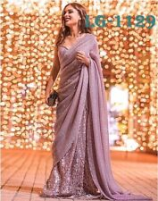 New Traditional Party Wear Indian Saree With Embroidery Work Sari LG-1129