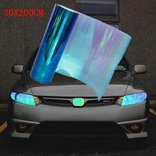 200X30cm Car Blau Scheinwerfer Folie Tönungsfolie Rückleuchten Blinker Aufkleber