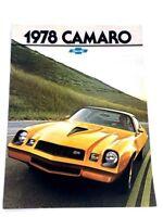 1978 Chevrolet Camaro and Z28 12-page Original Car Sales Brochure Catalog - RS
