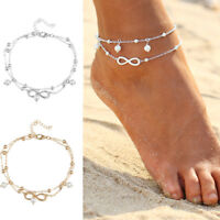 Womens Anklets Barefoot Crochet Sandals Foot Jewelry Pearls Bracelets Leg Chain