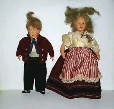 Vintage Pair of Boy & Girl Celluloid Dolls