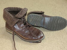 VGC Bass brown with fur fashion boots - womens 10?