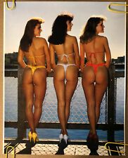 Original Vintage Poster Threes Company Sexy Girl Woman Thing Bathing Suits Pinup