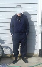 Italian Army Work Suit - Jumpsuit Coveralls Jacket Pants Lined Elastic LARGE