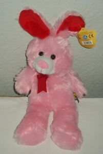 """Whitehouse Leisure Baby Paws Pink Bunny Rabbit Soft Plush Toy 12"""" (37cm) Gd/Con"""