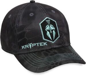 Kryptek® Typhon Embroidered Front Logo Black Camo Cap for Women