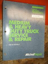 1987-93 MITCHELL DOMESTIC MEDIUM HEAVY TRUCK TUNE UP FUEL SERVICE REPAIR MANUAL
